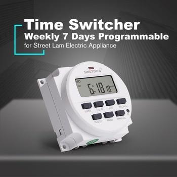 Digital tiempo interruptor relé temporizador 12 V semanal 7 días de cuenta atrás programable recordar aparato eléctrico