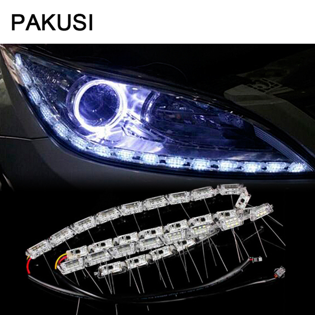Pakusi car led strip lamp drl lights 12v for renault duster lada pakusi car led strip lamp drl lights 12v for renault duster lada vesta vw for universal aloadofball Images