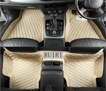 Best quality! Custom special floor mats for Right Hand Drive Audi A4 Sedan 2018-2010 durable Easy to clean carpets,Free shipping