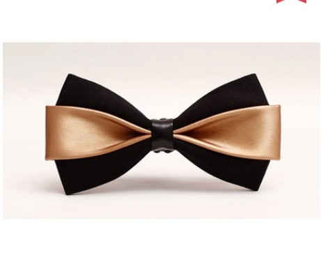 2017 new new men/'s bow tie PU dress Korean version of the British wedding groom host men and women bow tie bow