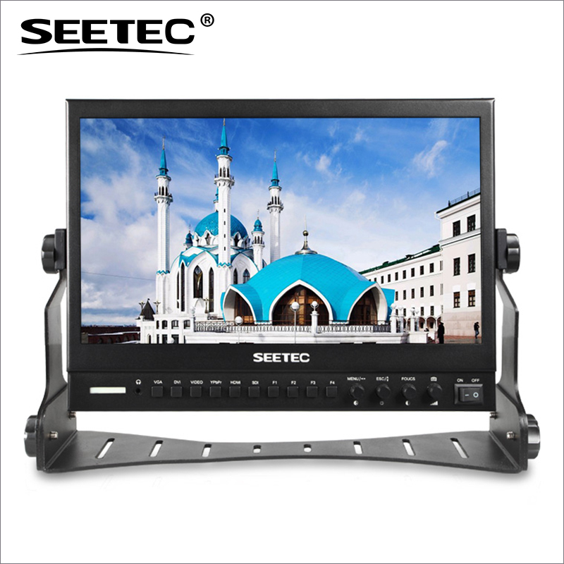 P133-9HSD 13.3 Inch Broadcast Monitor with 3G-SDI HDMI AV YPbPr IPS Seetec Professional 13.3inch Director Desktop LCD Monitors
