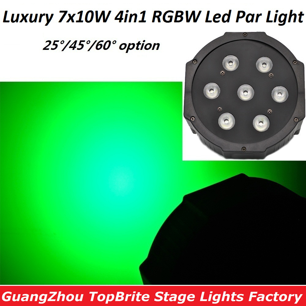 Good Quality Led Par Quad 7x10W Wash Dmx Par Light American dj Par RGBW 4in1 Dmx Led Flat Par Light Led Lamp Stage Effect Lights 2xlot 2016 led par can 7x10w rgbw 4in1 quad color mini par led dmx dj disco stage lights 70w moving head strobe effect projector