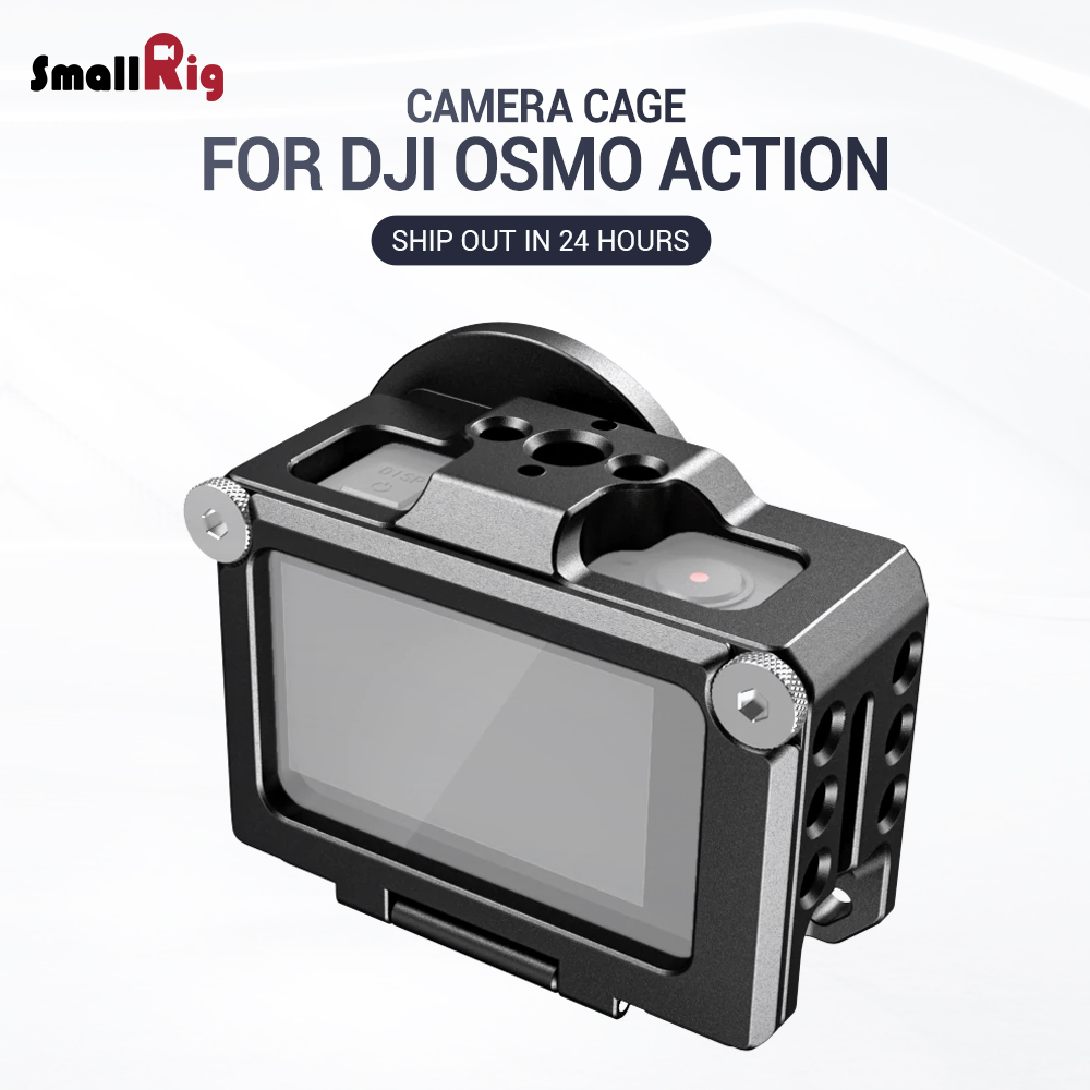 SmallRig Vlogging Cage for DJI Osmo Action Feature with 1 4 3 8 Arri Locating holes