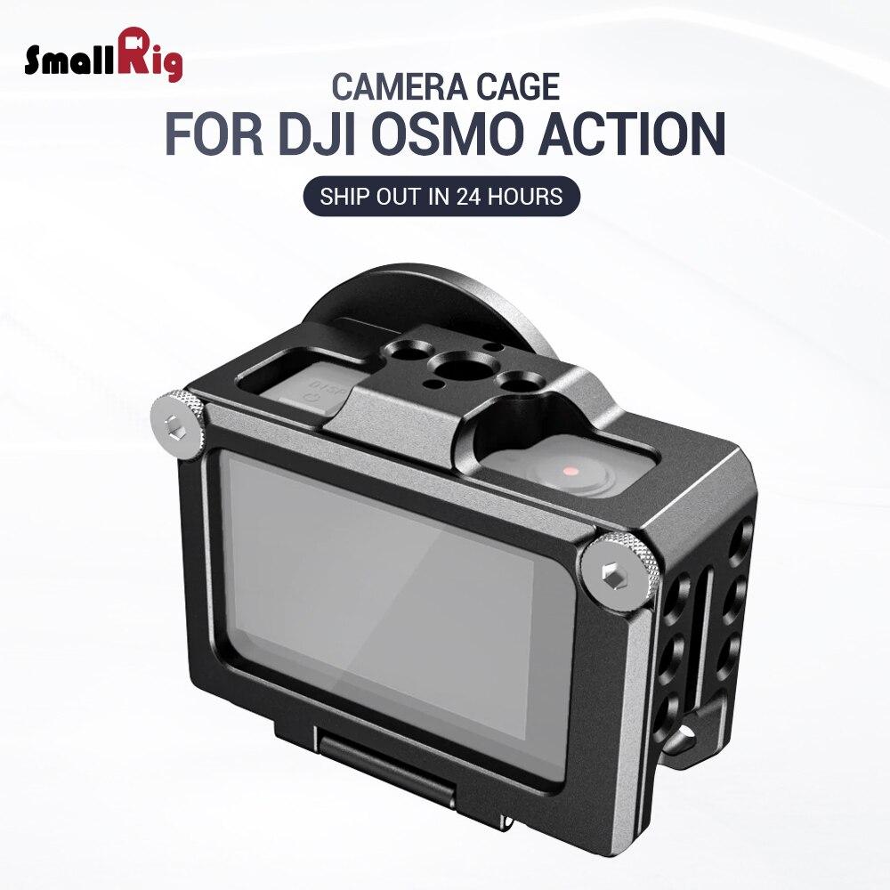 SmallRig Vlogging Gaiola para DJI Osmo Ação Característica com 1/4 & 3/8 Arri Localizar buracos Para Microfone EVF Montar Anexar CVD2360