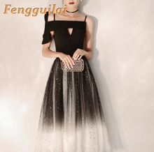 FENGGUILAI Sexy & Club Long Party Dress 2019 Elegant Maxi V Neck Sleeveless Bodycon Mesh Evening Vestidos