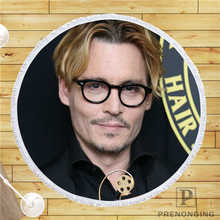 Custom DIY Customized Microfiber Fabric Johnny Depp Round Beach Blanket Towel Printed on Demand 150cm #19-01-28-4-114(China)