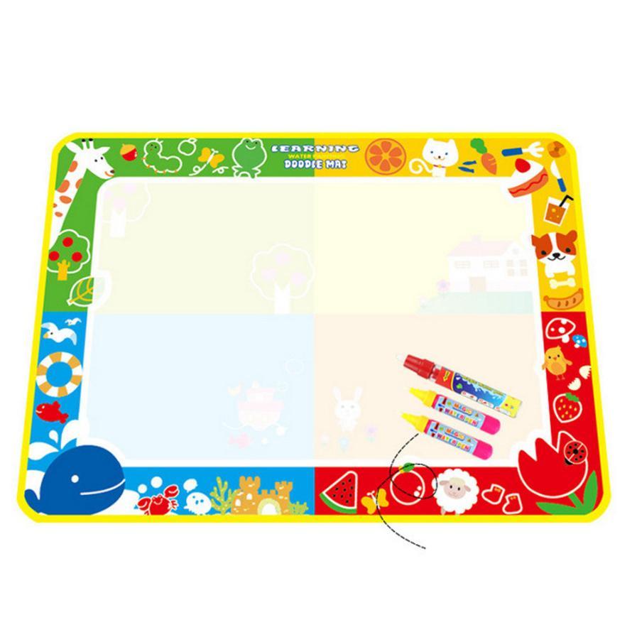 Нові іграшки Малюнок для малювання води 100 * 73см Дошка для малювання та письма Doodle З Magic Pen Нетоксична дошка для малювання для дітей D40