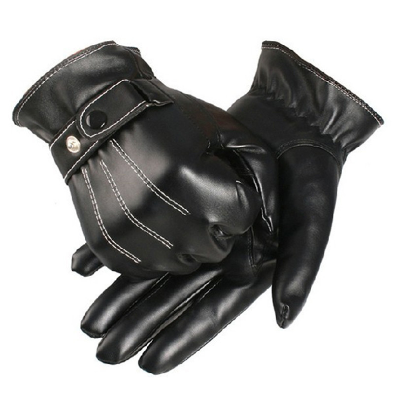 Ski Gloves leather men winter Sensory tactical gloves wrist drive Gloves