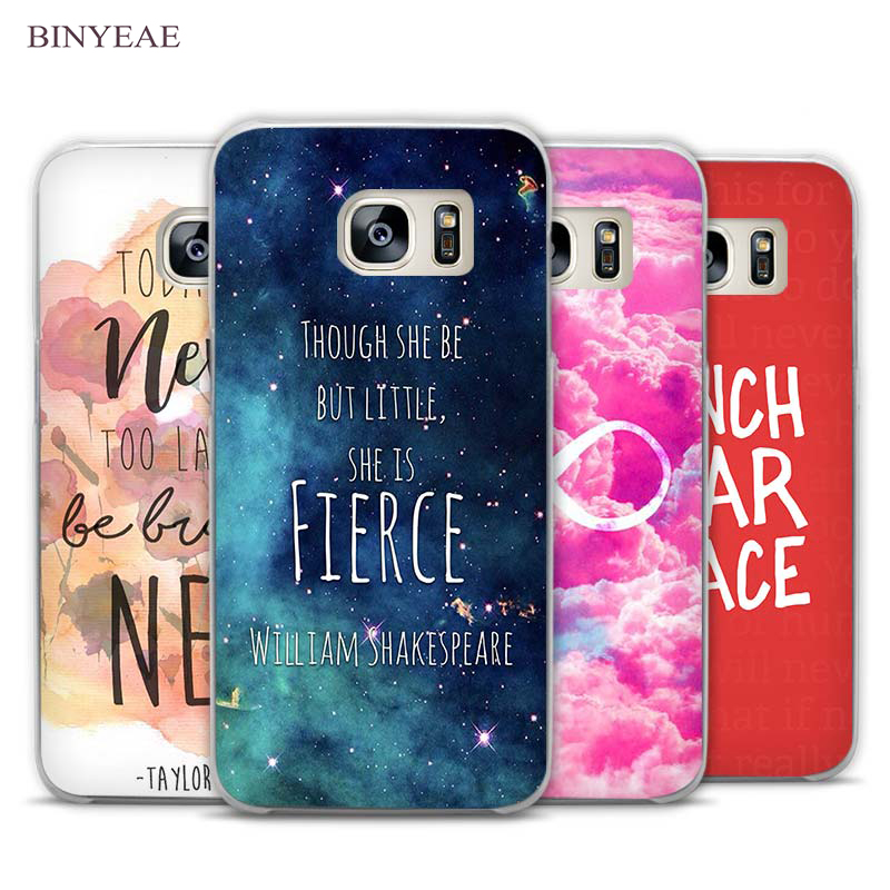 BINYEAE Bright Red be happy quote Clear Phone Case Cover for Samsung Galaxy Note 2 3 4 5 7 S3 S4 S5 Mini S6 S7 S8 Edge Plus