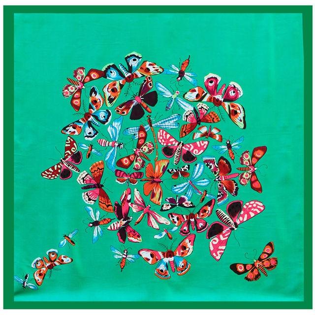 Scarves Animal Print Silk...