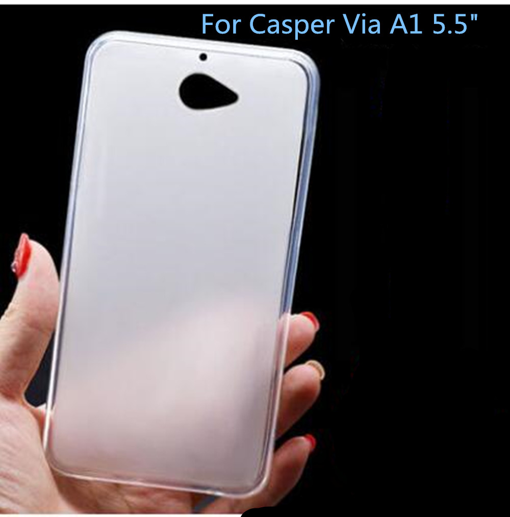 Soft TPU Silicon Case For Casper Via A1 Rubber Matte Back Cover For Casper VIA A1 5.5 Top Quality Fundas Capa image