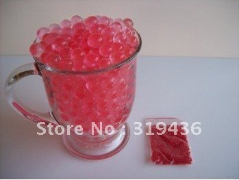 inflatable crystal pearl water polymer beads hydrated gel for vase filler decoration(various colors water beads for you)
