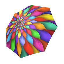 Psychedelic Rainbow Spiral Custom Umbrella Waterproof Sun Rain 100% Fabric Aluminium High-Quality Foldable