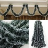 200CM Colorful Christmas Decoration Bar Tops Ribbon Garland Christmas Tree Ornaments White Dark Green Cane Tinsel Party Supplies 3