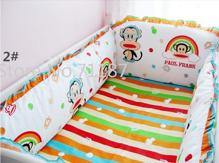5 Pcs Kids Bedding Sets Baby Crib Bedclothes Orange Bear Sheets100 Cotton Boy Per In From Mother