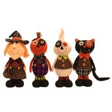 Kawaii Halloween Black Cat Pumpkin Doll Plush Toys Stuffed Plush Animals Halloween Toys For Children Kids Birthday Gift