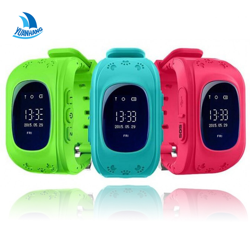 Smart Safe GPS LBS <font><b>Tracker</b></font> Location Finder SOS Call Anti-Lost Remote Monitor Watch Wristwatch for Kids Baby Student Q50 pk Q90