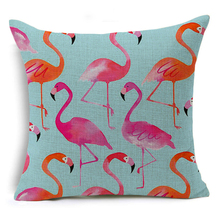 Flamingos Patterned Pillow for Home Decor