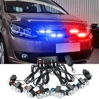 Беспроводной Управление 16 Вт автомобиля Strobe Light flash Дистанционное Управление светодиодный стробоскоп работая свет DRL полиции внимание конт...