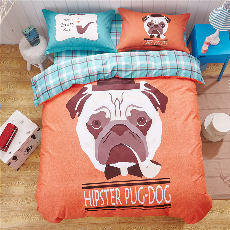 algodn sper suave lindo perro de impresin funda nrdica conjunto perros juego de cama