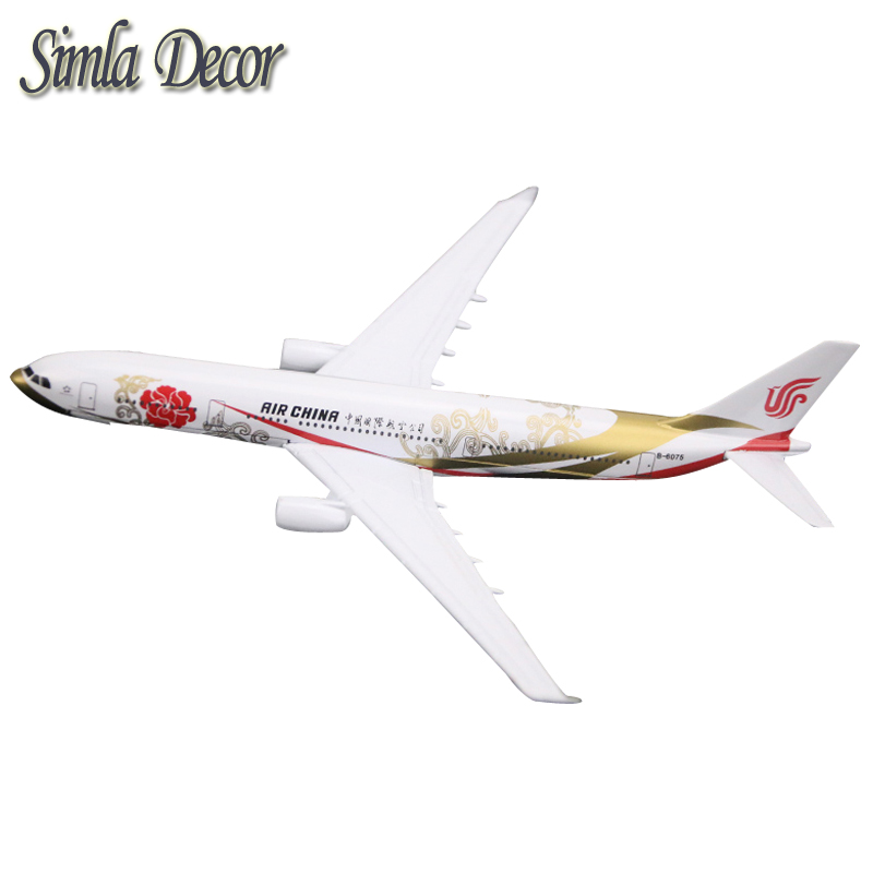 16cm Diecast Metal Air China A330 Airlines Airplane Model Airbus 330 Airways Plane Model Stand Aircraft Gifts ...