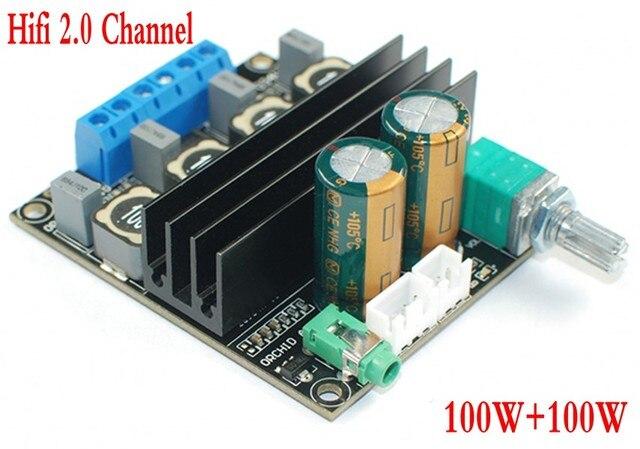 DC 12В 24В TPA3116D2 Hifi 2,0 каналов 100 Вт + 100 Вт стерео аудио Мощность цифровая плата усилителя