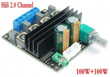 DC 12 V 24 V TPA3116D2 Hifi 2.0 チャンネル 100 ワット + 100 ワットステレオオーディオ電源デジタルアンプボード