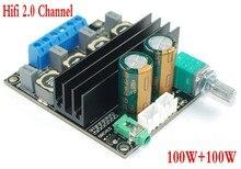 Dc 12 v 24 v tpa3116d2 hifi 2.0 채널 100 w + 100 w 스테레오 오디오 전력 디지털 앰프 보드