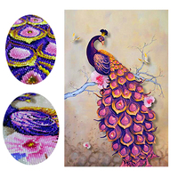 5D DIY Special Shaped Diamond Painting Diamond Embroidery Animal Peacock Full Cross Stitch Mosaic Decoration Crafts