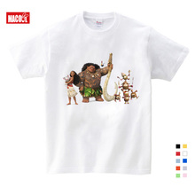 Boys Summer Clothes T-shirt Baby Cartoon Girl Moana Ocean Romantic Boy Short-sleeved Girls for Shirt