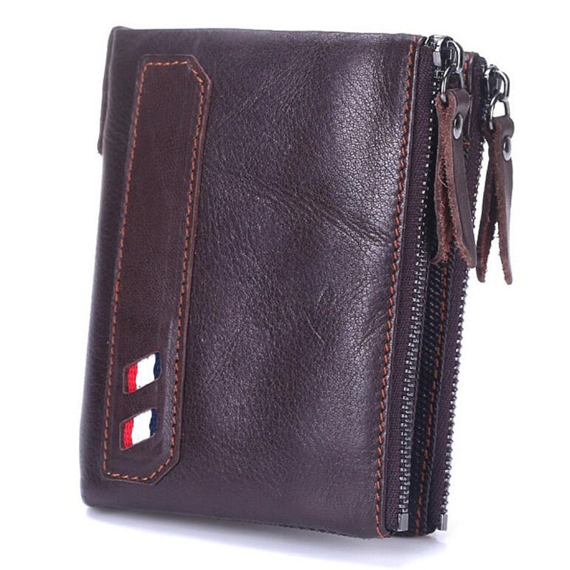High Quality Genuine Cowhide Leather Men Wallet Short Coin Purse Small Vintage Wallet Brand Vintage Real Leather 2017 genuine cowhide leather brand women wallet short design lady small coin purse mini clutch cartera high quality