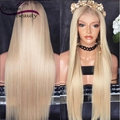 Полный Шнурок Человеческие Волосы Парики 613 Ombr Прямой Блондинка Бесклеевого Полный Парики шнурка 180% Бразильского Виргинские Волос Кружева Перед Парики Человеческих Волос