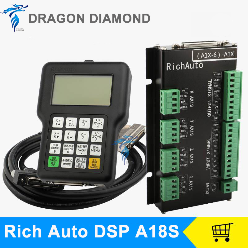 DSP Controller A18S A18E RichAuto 4 Axis CNC USB Linkage Motion for CNC RouterDSP Controller A18S A18E RichAuto 4 Axis CNC USB Linkage Motion for CNC Router
