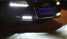 Front Fog Light Covers Lamp Masks Fit For Audi A6 C6 2009-2012