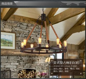 Free shipping american vintage country loft style pendant light coffee bar shop decorative fixture