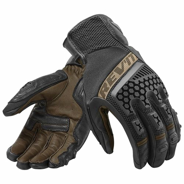 2018 Black REVIT Sand 3 Breathable Glove Motorcycle Cycling Riding Racing Leather Gloves Motocross Touch screen Guantes S-XXL
