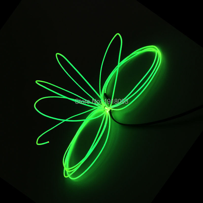 Novelty Lighting 1.3mm 5Meter EL Wire Glowing Product Neon Cold Lights For Festival Decoration