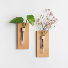 Terrarium Plant Vase Creative Wooden Wall-mount Flower Home Decoration Accessories Wall