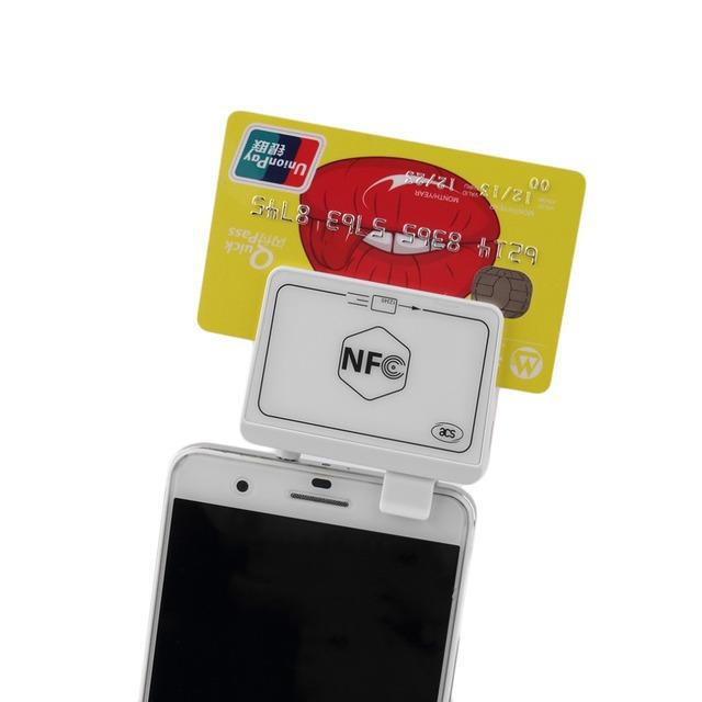 Nova NFC Sem Contato Leitor de Cartão Magnético Escritor Leitor De Etiquetas Para Smart Phones Brand New