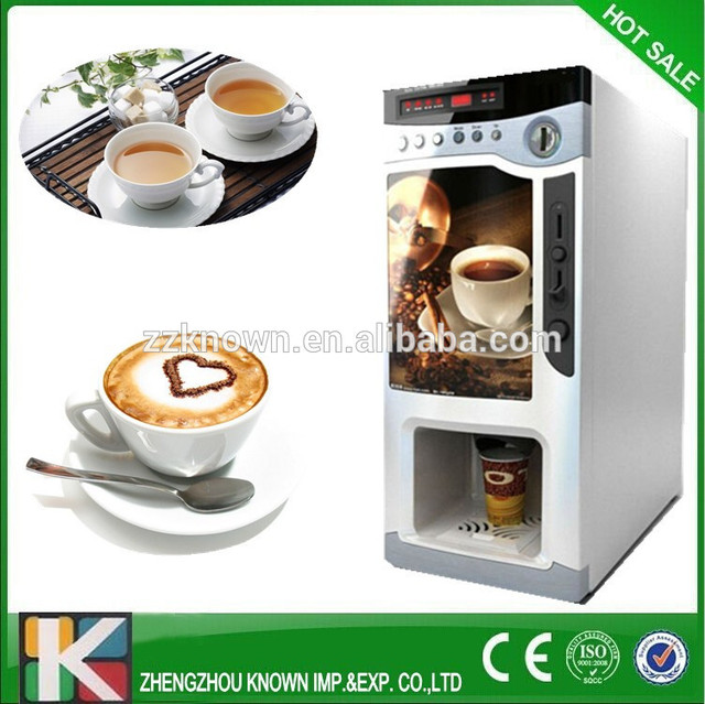 Commercial Automatic Instant Coin Operated Tea Coffee Vending Machine