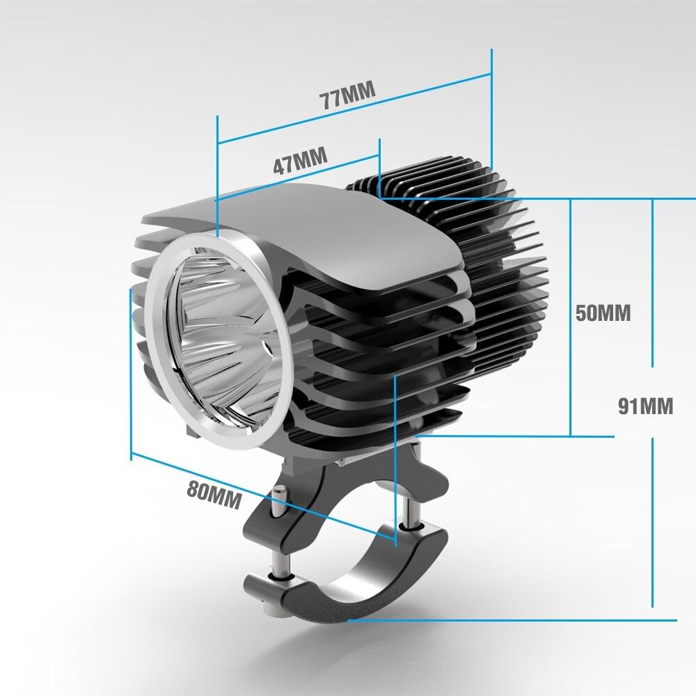 Bosmaa 18W Motocicleta LED Farol Car Fog DRL Farol Caça Holofotes Condução Spot led luz intermitente luz 2Pcs com Fios - 4