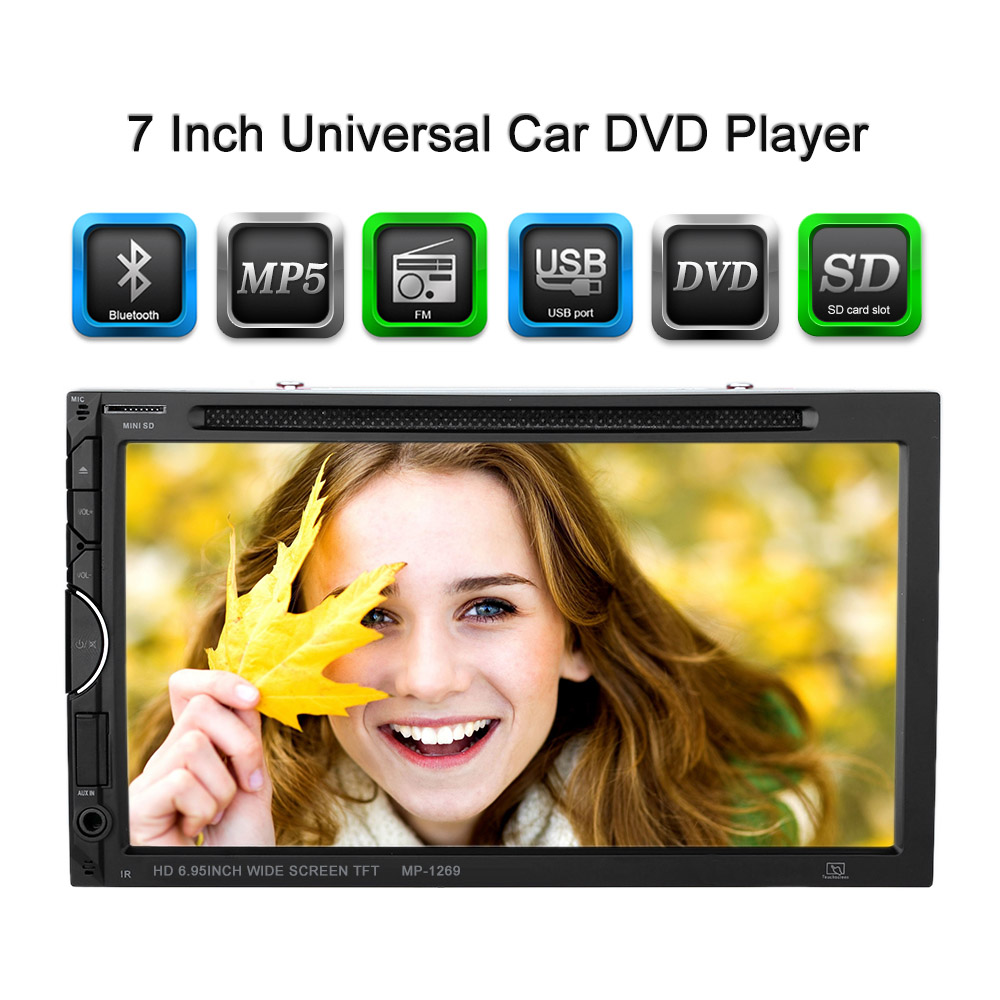7 Inch Screen Double Din Car Radio CD/DVD Player for Golf v BMW e46 Opel Astra h VW Ssangyong Actyon car