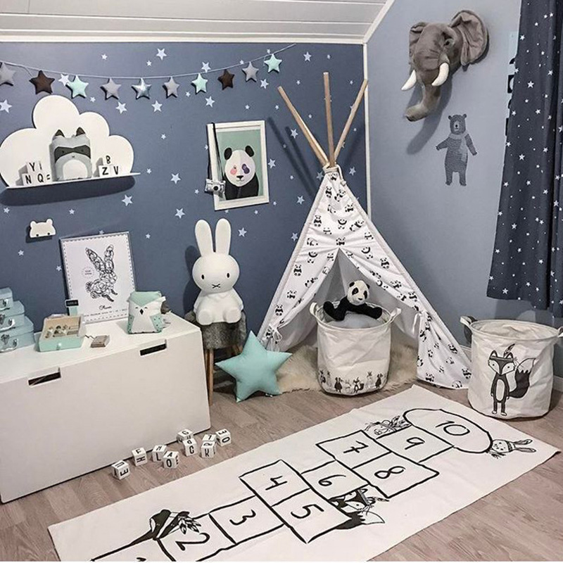 Kids Wall Sticker Stars Baby Nursery Bedroom Wall Sticker For Kids Room Children Wall Decals Art Wallpaper Home Decoration