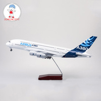 1/160 Scale Diecast Airplane Airbus A380 Prototype Airline Model With Light Children Collectible Plane Model Gift