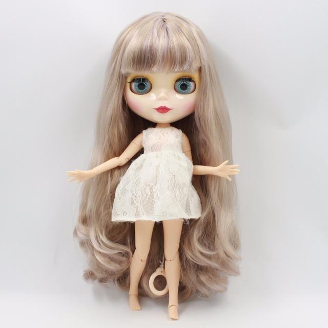 ICY Neo Blythe kurac sive ljubičaste kose spojnice 30cm