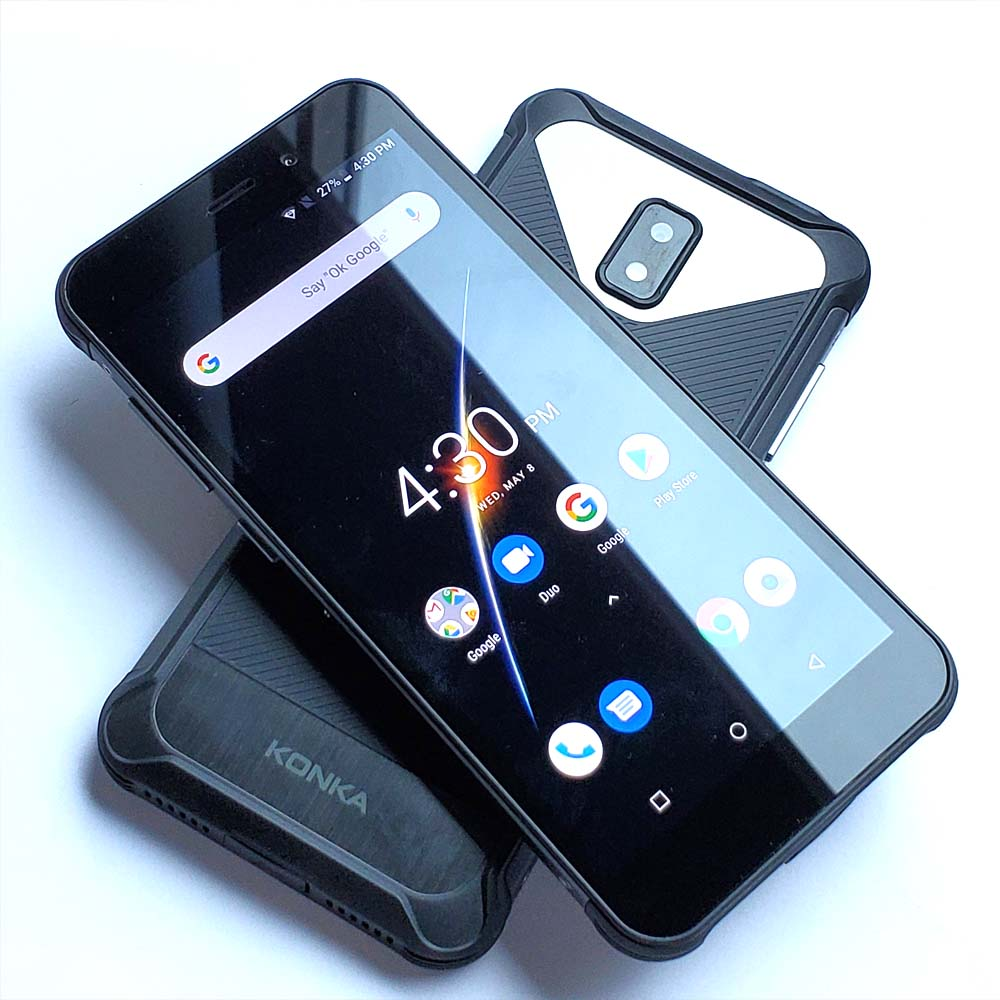 KONKA RE1 4G LTE Phone 5 45 18 9 Screen IP68 Waterproof Shockproof Rugged Android 8