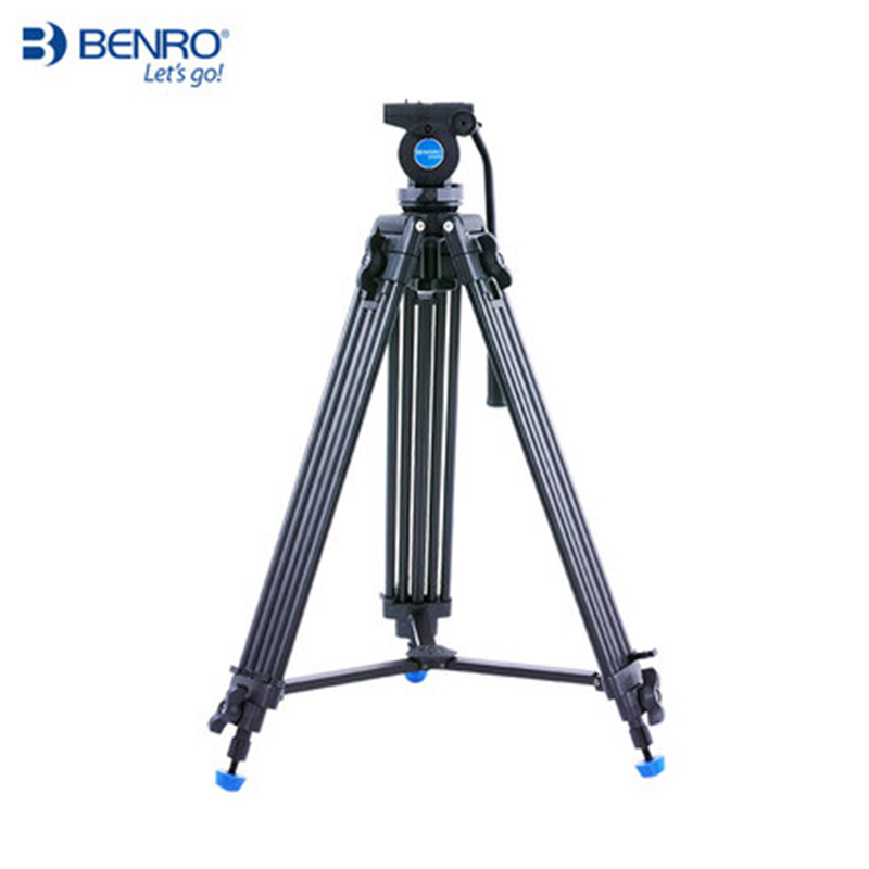 Benro KH25N Professional Video Camera Tripod Kit Aluminum Portable Video Tripod Hydraulic Video Head Stable Photography Support dhl new gopro benro a373ts6 s6 hydraulic ball head dual bird watching tripod camera photography tripod wholesale
