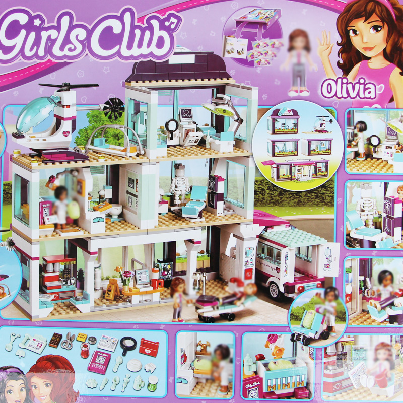 Building bricks Girls Club 932Pcs 01039 Heartlake Love Hospital kids Bricks Toy for Girls 41318