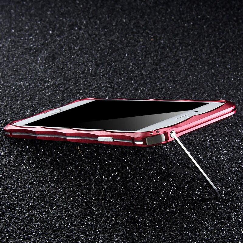 imágenes para Original iMatch de Parachoques Para El iPhone 6 6 s/Más Exquisito en forma de Diamante Caja Del Teléfono Del Metal de Parachoques De Aluminio Con Soporte Invisible