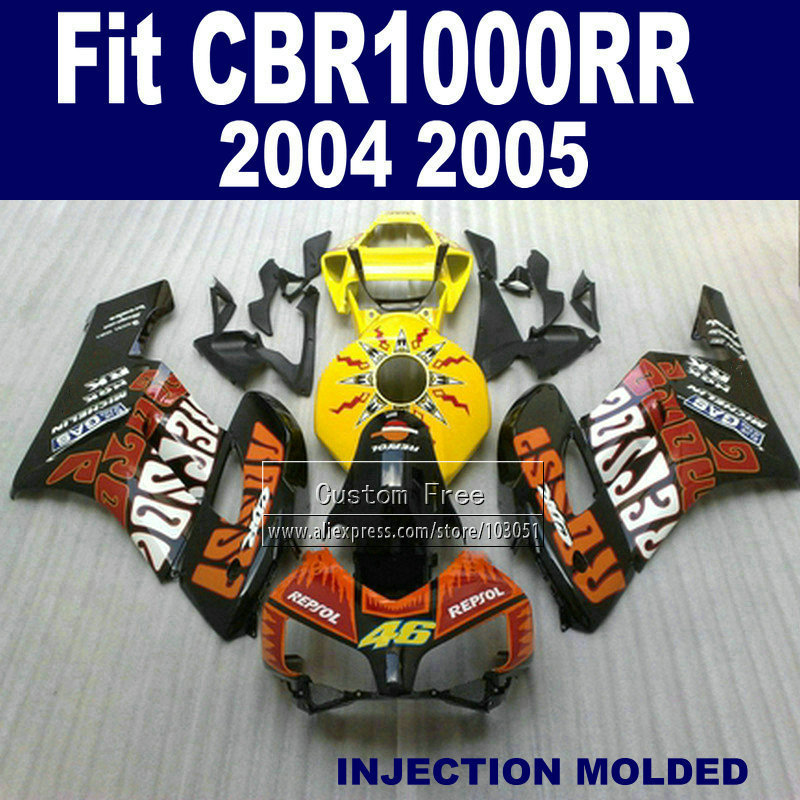 ABS plastic Injection fairings parts for Honda Rossi repsol CBR1000RR 2004 2005 CBR 1000 RR 04 05 CBR 1000RR fairing body kits